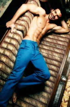 Daniel Gillies shirtless for a modeling photoshoot in 2015...