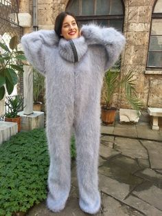 Пуховый костюм женский