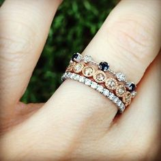 Love the champagne diamond ring