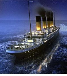TITANIC🚢 steaming into its tragic history Titanic Sinking, Titanic Ship, Rms Titanic, Titanic Deaths, Titanic Photos, Charles Trenet, Fantastic Voyage, Boat Painting, Civil War Photos