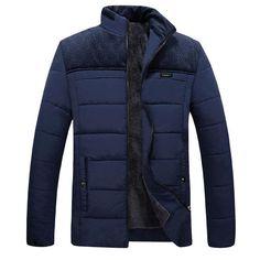 c42a102c553 Shifuren Winter Men Jacket Parkas Thicken Warm Cotton-Padded Fleece Linned  Outwear Long Sleeve Causal Coat Plus Size M-4Xl