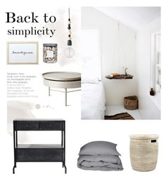 """Back to simplicity"" by anna-lena-als ❤ liked on Polyvore featuring interior, interiors, interior design, home, home decor, interior decorating, Lene Bjerre, Threshold and Bloomingville"