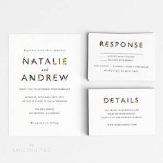 Printable Romantic Botanical Wedding Invitation