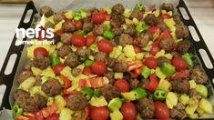 Fırında Misket Köfteli Türlü - Nefis Yemek Tarifleri Kung Pao Chicken, Salsa, Beef, Ethnic Recipes, Food, Meat, Essen, Salsa Music, Meals