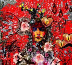 couleurs et mixed media: Rouge mon amour