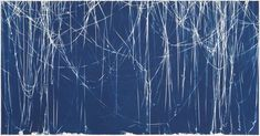 Christian Marclay (American, born 1955). <em>Memento (Lag Wagon)</em>, 2008. Cyanotype, Sheet: 51 1/2 x 99 in. (130.8 x 251.5 cm). Brooklyn Museum, Purchased with funds given by John and Barbara Vogelstein, Shelley Fox Aarons and Philip E. Aarons, Stephanie and Tim Ingrassia, and bequest of Richard J. Kempe, by exchange  , 2008.72. © artist or artist's estate (Photo: Photograph courtesy of the artist, Graphicstudio/USF and Paula Cooper Gallery, New York…