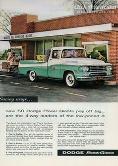 New prestige-styled '58 Dodge Power Giants