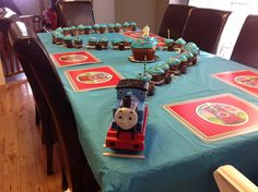 Cupcake train!, train birthday party!