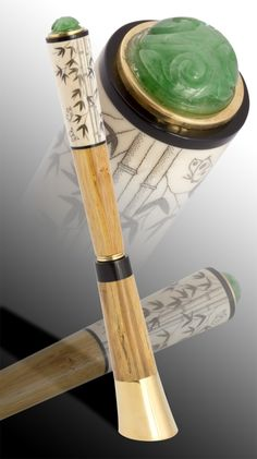 Bamboo Fountain Pen  Stands by itself!  Ghibli Brand