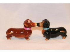 Magnetic Kissing Dachshunds Ceramic Salt and Pepper Shakers are just one of the wonderful items  up for bid during the Furever Dachshund Rescue online auction starting TODAY Monday November 12th!