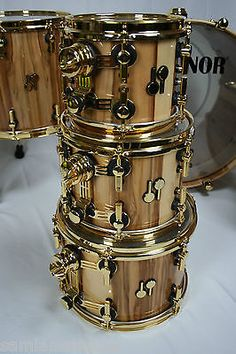 Sonor SQ2 Med Beech 7 Pc High Gloss American Walnut Lacquered Finish 2016 NAMM