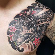 Left Arm Tattoos, Forarm Tattoos, Hot Tattoos, Tattoos For Guys, Headdress Tattoo, Mask Tattoo, Samurai Tattoo Sleeve, Sleeve Tattoos, Hannya Maske Tattoo