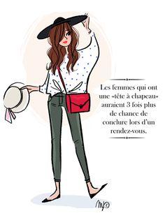 Femme à chapeau - Magalie Foutrier