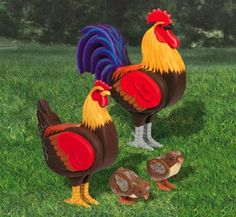free rooster patterns for woodworking | 3D Animal Project Patterns - 3D Life-Size Chicken Wood Patterns