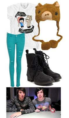 """AmazingPhil and Danisnotonfire"" by onedirectionlover99-872 ❤ liked on Polyvore"