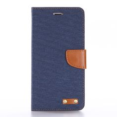 Waloo Canvas Folio Case with Leather Interior for iPhone 7 and iPhone 7 Plus
