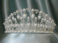 ROYAL JEWELS - Pearl and diamond tiara that belonged to Empress Catherine the Great of Russia.