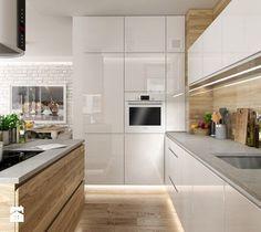 Portafolio - cocina mediana en estilo escandinavo - Foto de PEKA STUDIO - H . Modern Kitchen Interiors, Modern Kitchen Design, Interior Design Kitchen, Modern Interior, Farmhouse Style Kitchen, Modern Farmhouse Kitchens, Home Kitchens, Kitchen Layout, New Kitchen