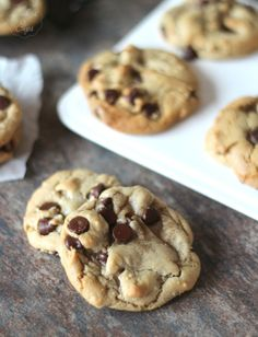 Grapeseed Oil Chocolate Chip Cookies - Cookies and Cups