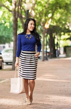 32 Best Striped Skirt Outfit Images Stripes Stripe Skirt Casual