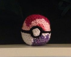 Handmade hackesac based off the Dream Ball item from the Pokemon game series.