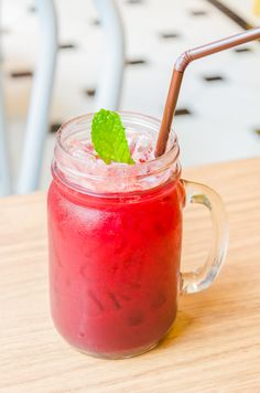 Raspberry Mint Lemonade Recipe: http://www.thedailymeal.com/raspberry-mint-lemonade