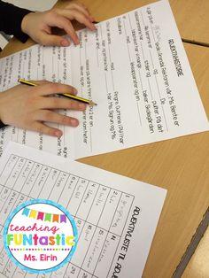 PY 5 - Uke 4: Elevene øver seg på å bruke adjektiv i riktig form ved å skrive adjektivhistorier. Ekstra morsomt når de kan lage adjektivhistorier om læreren ;)
