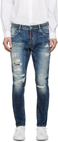 Dsquared2 - Blue Dirty Vintage Tidy Biker Jeans