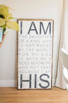 Hand Painted Sign - I am HIS. Always remember. The Words, Cool Words, Beautiful Words, Beautiful Beaches, All That Matters, After Life, Hand Painted Signs, God Is Good, My New Room