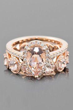 24 Morganite Engagement Rings We Are Obsessed With ❤ See more: http://www.weddingforward.com/morganite-engagement-rings/ #wedding #engagement #rings