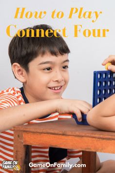 Learn how to play Connect Four via our Connect Four game tutorial. Review the rules of Connect Four and find your next fun game at www.GameOnFamily.com!