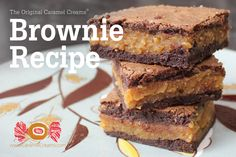 Goetze's Caramel Creams Original Brownie Recipe - This classic brownie recipe was created by the Goetze family and has been featured on Goetze's Caramel Creams bags for decades! Caramel Creams are #MadeInUSA and #NutFree!