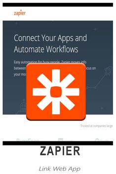 Zapier - Connect the apps you use everyday to automate your work and be more productive Link Web, Great Apps, You Working, Virtual Assistant, Productivity, Connection, Learning, Business, Easy