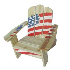 How cute is this kid-sized Adirondack chair?