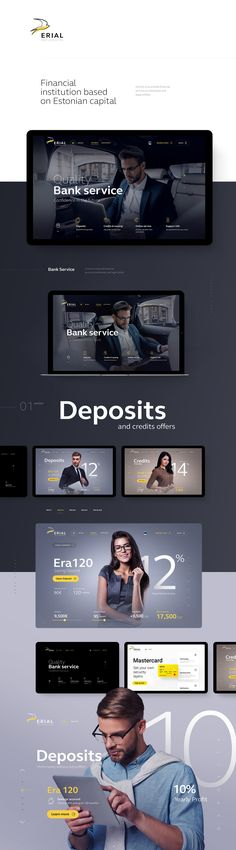 banking website Financial Concept: Modern Bank Service on Behance Book Layout, Web Layout, Identity, Communication, Portfolio Book, Web Project, Branding, Adobe Xd, Financial Institutions