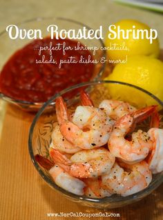 Oven Roasted Shrimp is my absolute favorite way to prepare shrimp for just about every dish I use them in - they turn out plump, tender, juicy and super flavorful. Give it a shot and I promise you won't regret it!