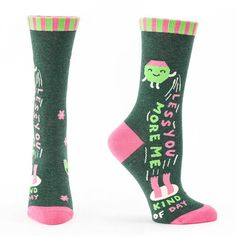Less You, More Me Kind Of Day Socks in Incredible Socks Gifts