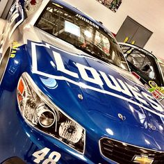 2015 race car prep is well underway at @teamhendrick!  Check out the #Lowes48 Sprint Unlimited racing machine! #ReadyForBattle