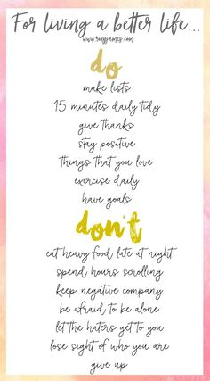 Tips for Living a Better Life {free printable} Roxy James