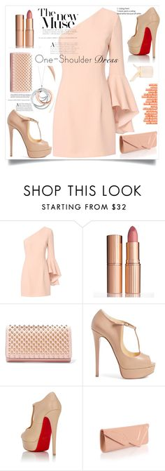 """""""#dress"""" by katymill ❤ liked on Polyvore featuring Tiffany & Co., Exclusive for Intermix, Charlotte Tilbury and Christian Louboutin"""
