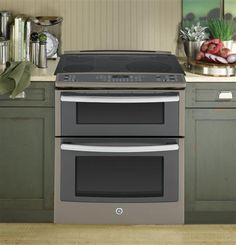 "PS950EFES | GE Profile™ Series 30"" Slide-In Double Oven Electric Convection Range 