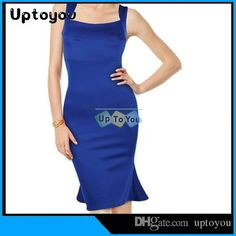 2015 THE WAIST Blue Dress PLUS SIZES Sexy Sleeveless Backless Club Bodycon Dress the Package Hip Party Dress from Uptoyou,$5.23 | DHgate.com
