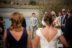 Fall wedding at Peanut Lake, Crested Butte, CO. Photo by Alison White Photography
