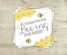 Bee Baby Shower  Favor Tags  Printable Thank by CelebrateBabyCo