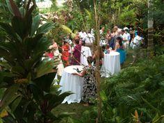 Destination wedding cocktail venue at Caracol Che villa in Rincon Puerto Rico