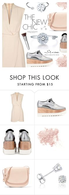 """The New Chic"" by totwoo ❤ liked on Polyvore featuring Finders Keepers, STELLA McCARTNEY, Bare Escentuals, Mansur Gavriel, Amanda Rose Collection, Trish McEvoy, WearableTech, totwoo and smartjewelry"