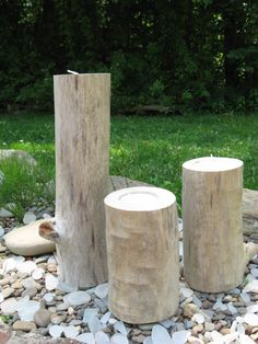 NATURAL DRIFTWOOD Candle Holders Tealights Beach House Decor. $20.00, via Etsy.