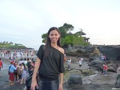 Tanah Lot in Bali, Indonesia is a popular rock formation shaped continuously over the years by the ocean tide with a temple built for worshi...