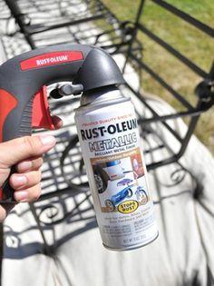 DIY Basics: Spray Painting Outdoor Furniture