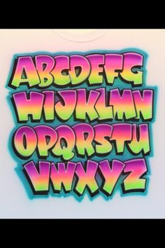 A bit too 'Fresh Prince-ish' for me but I like the thickness, the relative simplicity while also having personality Graffiti Alphabet Styles, Graffiti Lettering Fonts, Hand Lettering Alphabet, Lettering Styles, Brush Lettering, Alfabeto Tattoo, Letras Abcd, Letras Cool, Graffiti Drawing